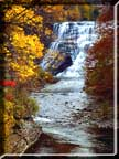 Ithaca Falls, the waterfall in all its fall glory.