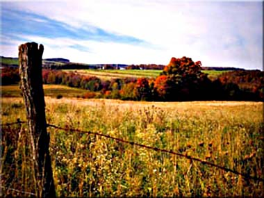 Photography of typical upstate NY landscape in autumn.